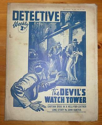 DETECTIVE WEEKLY No 272 7TH MAY 1938 THE DEVIL'S WATCH TOWER BY JOHN HUNTER