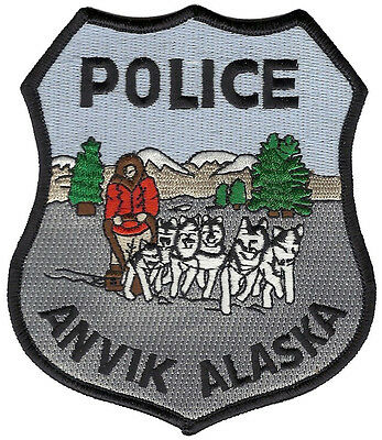 Anvik Police Alaska Shoulder Patch - 5 inches tall by 4 inches wide