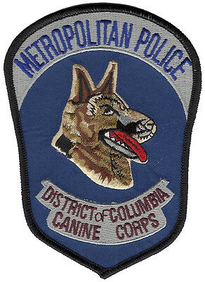 """Metropolitan Police District Of Columbia Canine Corps Patch - 5 1/8"""" x 3 5/8"""""""