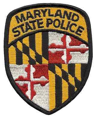 Maryland State Police Shoulder Patch - 3 3/4 inches tall by 3 inches wide - NEW