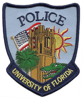 "University Of Florida Police Shoulder Patch - 4 5/8"" tall by 3 3/4"" wide - NEW"