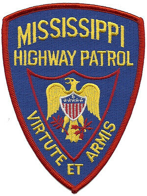 "Mississippi Highway Patrol Shoulder Patch - 5"" tall by 3 7/8"" wide  - NEW"