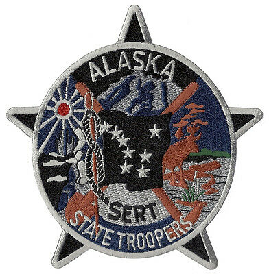 Alaska State Troopers S.E.R.T. Patch - 5 1/8 inches tall by 4 7/8 inches wide