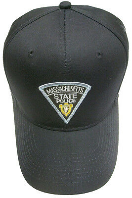 Massachusetts State Police Patch Snap Back Ball Cap / Hat - NAVY - OSFA - New