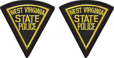 """Hat Size West Virginia State Police Patches - Pair - 3""""T by 2 3/4""""W - NEW"""