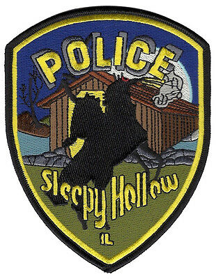 Sleepy Hollow Police Illinois Shoulder Patch - 5 inches tall by 4 inches wide