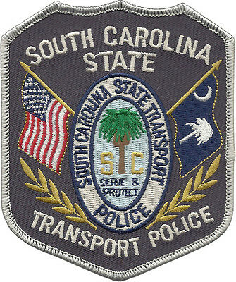 "South Carolina State Transport Police Shoulder Patch  4 1/2"" tall by 3 3/4"" wide"