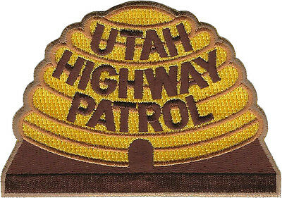 """Utah Highway Patrol Shoulder Patch - 2 15/16"""" tall by 4 3/16"""" wide - NEW STYLE"""