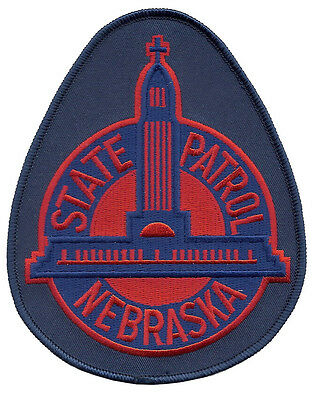 "Nebraska State Patrol Shoulder Patch - 5 1/4"" tall by 4 1/8"" wide  - NEW"
