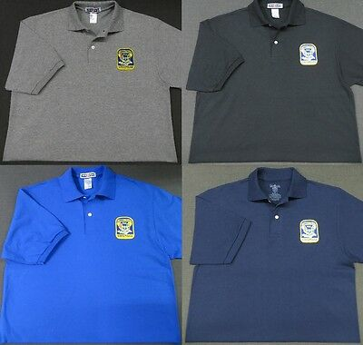 Connecticut State Police Patch Polo Shirt - MED to 3XL - 4 Colors - NEW