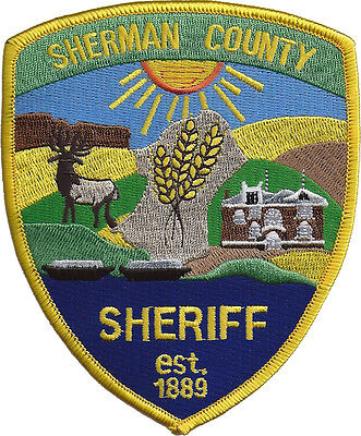Sherman County Sheriff Oregon Shoulder Patch - 5 inches tall by 4 inches wide