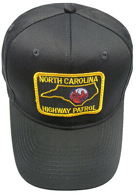 North Carolina Highway Patrol Patch Snap Back Ball Cap / Hat - BLACK - OSFA