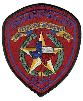 """Texas Highway Patrol Shoulder Patch - 5 1/8"""" tall by 4 3/8"""" wide  - NEW"""
