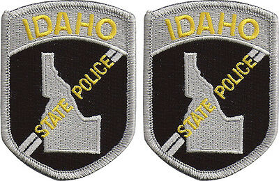 "Hat Size Idaho State Police Patches - Pair - 3""T by 2 1/4""W - NEW"