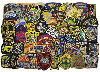 Set of all 50 State Police / Trooper / Highway Patrol Patches Plus D.C. - NEW