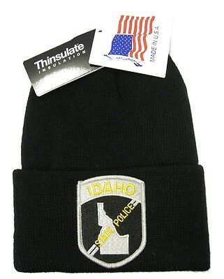Idaho State Police Patch Knit Cap - 40g Thinsulate Insulation - Black