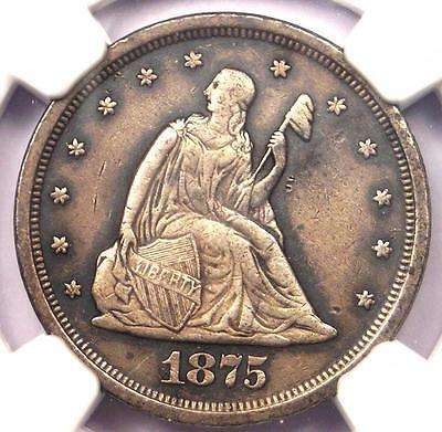 1875-S Twenty Cent Piece 20C - NGC AU Details - Rare Certified Type Coin!