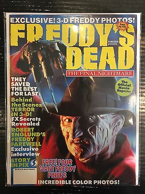 Fangoria Presents Freddy's Dead Movie Magazine FN/VF Free UK P&P Horror Magazine