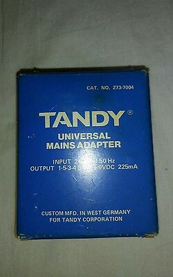 TANDY - computerised chess universal dc mains power supply - LAST 1 LEFT -