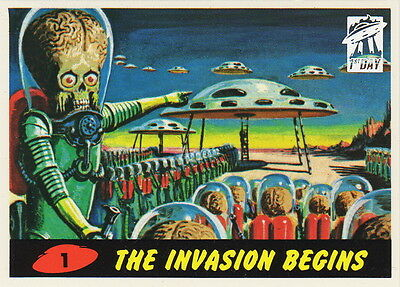 1994 TOPPS MARS ATTACKS ARCHIVES 55 Card 1st Day Foil Stamped Parallel Chase Set