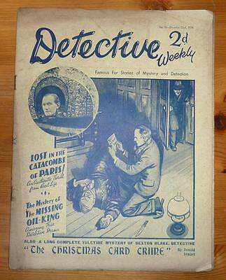 DETECTIVE WEEKLY No 96 22ND DEC 1934 THE CHRISTMAS CARD CRIME BY DONALD STUART