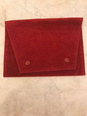 Cartier Red Suede Travel Storage Pouch Authentic New