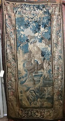 """Very Fine Flemish/French Verdure 17th cent. woven wool tapestry. Apx. 101"""" x 52"""""""