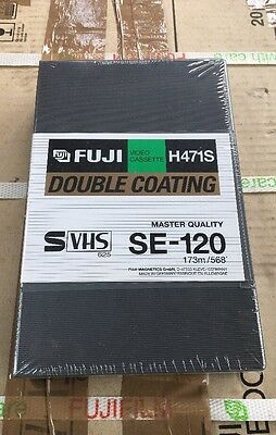 20 X NEW FUJI S-VHS SE120 BLANK Video Tapes H471S Master Quality - Boxed/Sealed
