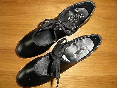 Black low heeled tap shoes  / Adult size 8