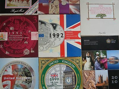1982-2010 Royal Mint Brilliant Uncirculated Coin Year Packs - Choose Your Year