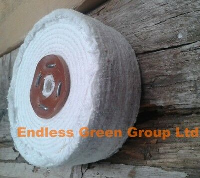 """4"""" Firm Stitched Cotton Buffing Wheel 100 x 50mm Cleans & Polish Metal  C100/4"""