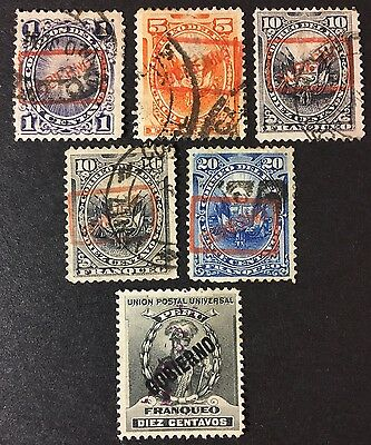 1890 Peru Official Stamps Lot - Nice!