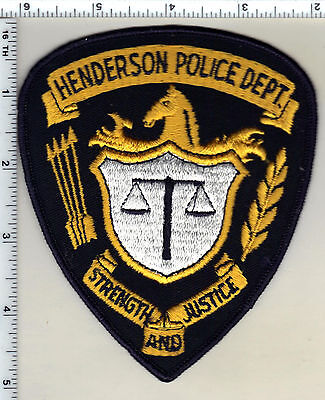 Henderson Police (North Carolina) Shoulder Patch - new from 1991