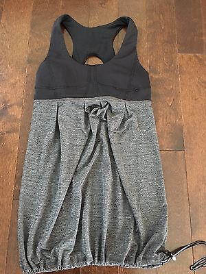 Lululemon Black Gray Run Your Heart Out  Tank Top Size 4