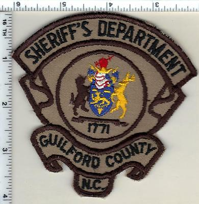 Guilford County Sheriff's Dept. (North Carolina) Shoulder Patch from 1998