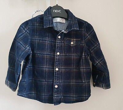 Boys Zara press stud shirt aged 12-18 months in excellent condition