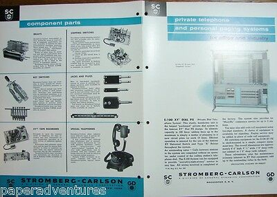 1958 STROMBERG-CARLSON Private Telephone,Paging Systems INDUSTRY,OFFICE Catalog