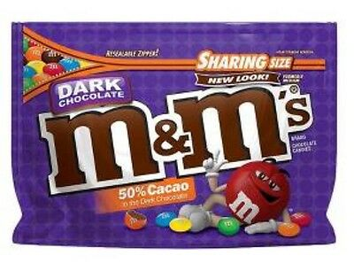 Dark Chocolate M&M's American Candy USA M&Ms BBD 02/18 NEW Resealable BAG