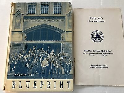 Brooklyn Technical High School Yearbook Annual 1942 And Commencement Program