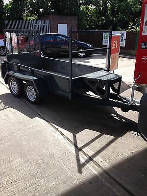 Ifor Williams Twin Axle Braked Mini Digger Plant Trailer - 8x4ft Body