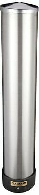 Adjustable Stainless Steel Wall Mount Cup Dispenser 12-24 oz Plastic Foam Cups