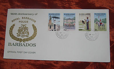 First Day Cover - 150th Anniversary of the Royal Barbados Police Force