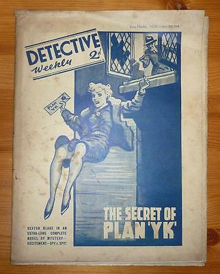 DETCTIVE WEEKLY No 271 30TH APRIL 1938 THE SECRET OF PLAN 'YK', SEXTON BLAKE