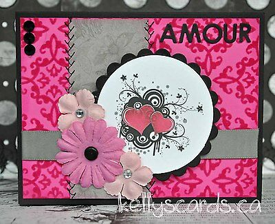 KOScraps4u Sewn Love AMOUR Mini-Album Gift Card Paper Piecing Premade pullout