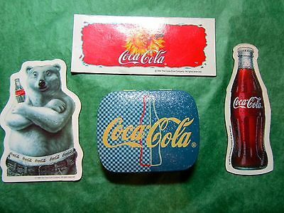COCA COLA MAGNET & HINGED-LID TIN LOT OF 4 (25x)