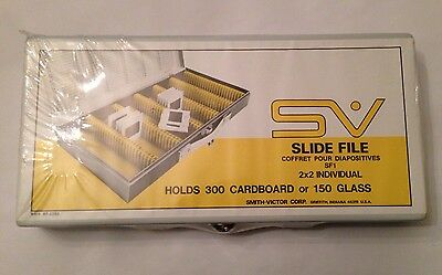 Logan Metal Deluxe Slide File 200 Box Holds 750 2x2 Slides Or 375 Glass Mount