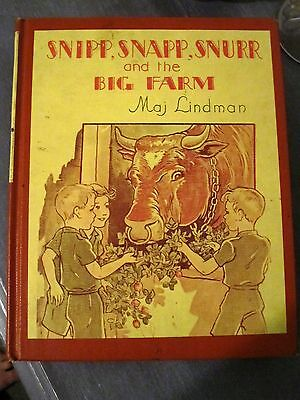 Snipp, Snapp, Snurr and the Big Farm by Mij Lindman 1954 3rd printing