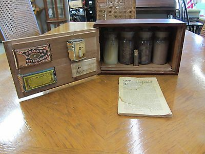 Antique Walter Baker & co. chocolate educational exhibit. Traveling salesman box