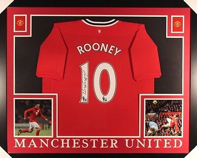 Wayne Rooney Autographed/Signed and Framed Manchester Jersey (JSA LOA)