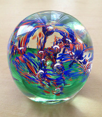 L/Linda Campbell of Caithness Scotland Glass Paperweight N3 96